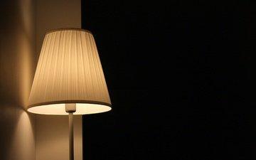свет, обои, лампа, торшер
