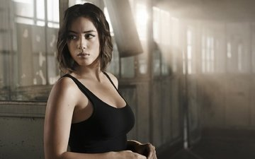 brunette, hairstyle, the series, mike, frame, agent, agents of shield, chloe bennet, daisy johnson, tv series