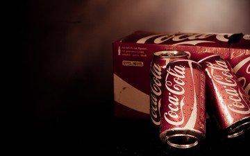 напиток, кока-кола, банки