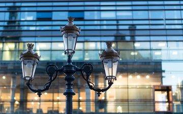 макро, фонарь, здание, франция, квартал, франци, les cordeliers, лион