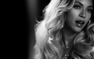 girl, black and white, singer, beyonce, celebrity