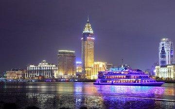 небоскребы, шанхай, мегаполис, китай