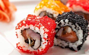 рыба, японии, икра, рис, суши, роллы, морепродукты, японская кухня
