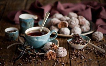 еда, сладости, стол, напитки, чай, лента, ленточка, водопой, печенье, анис, бадьян, кондитерские изделия