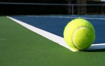 тенис, спорт, мяч, теннис, бал, линейка