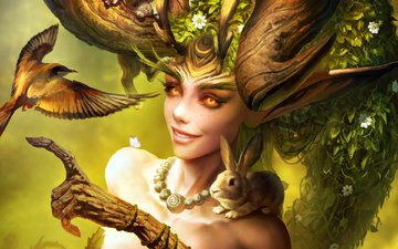 flowers, art, nature, plants, animals, look, heroes of the storm, lunara