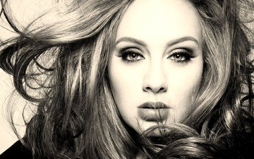 girl, hair, face, singer, celebrity, adele
