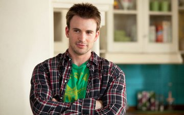look, actor, face, male, shirt, chris evans
