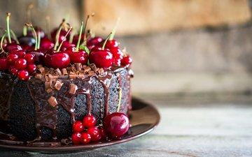 вишня, шоколад, сладкое, выпечка, торт, десерт, в шоколаде, кулич, вишенка, baking, сладенько
