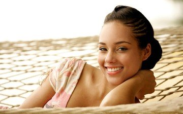girl, smile, singer, alicia keys