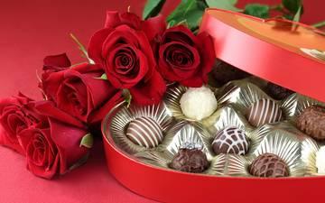 цветы, конфеты, букет, шоколад