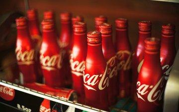напиток, бутылки, кока-кола