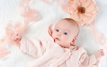 цветок, ребенок, младенец, детские, глазки, малышка, infant, дитя