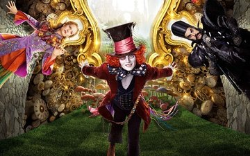 johnny depp, movie, 2016, alice through the looking glass, ultra hd 8k, alice in wonderland