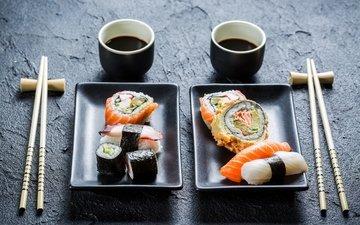 палочки, дезайн, вкуснятина, суши, роллы, японская кухня, оформление, соевый соус