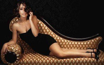 girl, singer, sofa, victoria dayneko