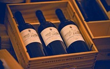 вино, бутылки, три, алкоголь, тара
