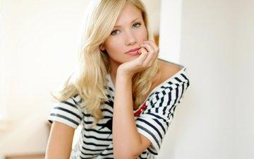 блондинка, взгляд, маечка, берит биркеланд