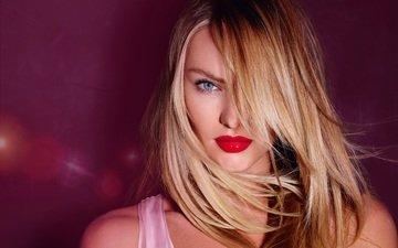 глаза, девушка, блондинка, взгляд, красавица, модель, губы, лицо, грань, blond, кэндис свейнпол, взор, ангел victoria's secret, gевочка, губы. волосы, сексапильная, модел