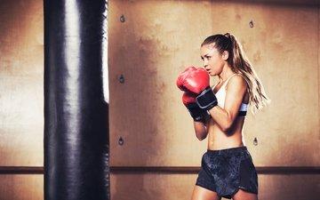 женщины, бокс, женщина, обучение