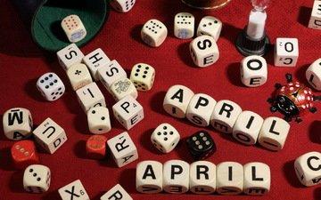игра, кости, april-april