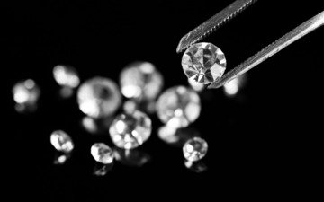 черный фон, расцветка, бриллианты, камешки, алмазы, ассорти, зажим, драгоценный камень