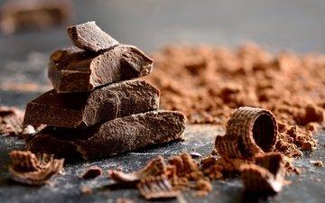 шоколад, сладкое, в шоколаде, какао, аппетитная, крошки, бурые