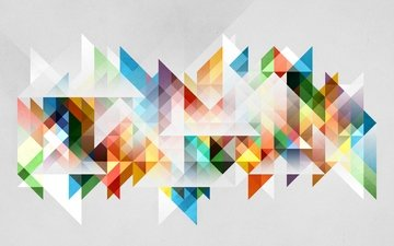 abstraction, background, color, graphics, colors, triangles, tones