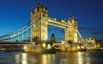 река, мост, великобритания, лондон, темза, город, англия, биг бен, биг-бен, вестминстерский дворец, great britain, westminster palace