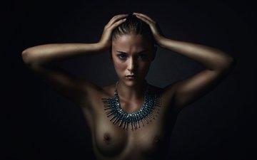 портрет, грудь, amazon warrior, coline