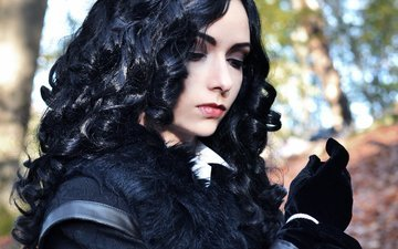 девушка, косплей, yennefer, the witcher 3