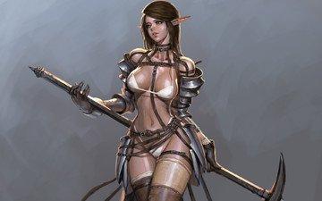 art, weapons, erotic, youngmin suh, elf. look