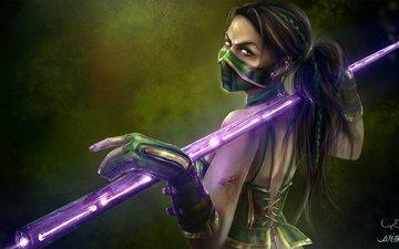 art, look, the game, costume, mortal kombat, jade
