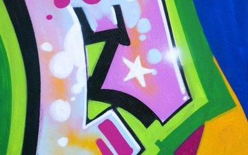 цвет, стена, граффити, графитти