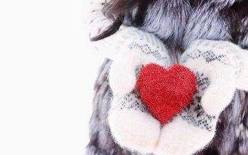 зима, сердце, любовь, руки, романтик, варежки, влюбленная, сладенько, сердечка
