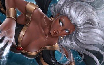 art, storm, girl, marvel comics, ororo monroe