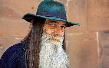 look, people, face, male, hat, beard