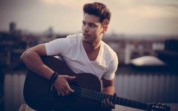 guitar, male, bastian baker, swiss singer