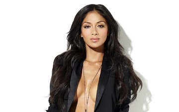 background, pose, look, white, nicole scherzinger