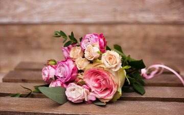 розы, букет, роз
