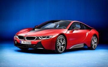 red, auto, bmw, i12