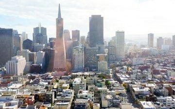 сша, сан-франциско, калифорния, городской пейзаж, сан - франциско, трансамериканская пирамида