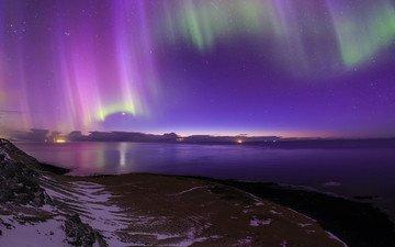 северное сияние, исландия, aurora borealis