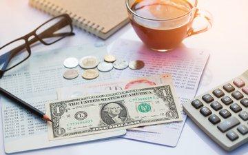 glasses, coffee, money, table, economy, the cost