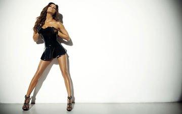 платье, модель, волосы, актриса, черное, перчатки, ева лонгория, интим, босоножки, ева лангория