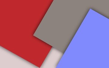 red, white, grey, material, geometry