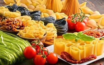 помидоры, спагетти, макароны, макарон, помидорами