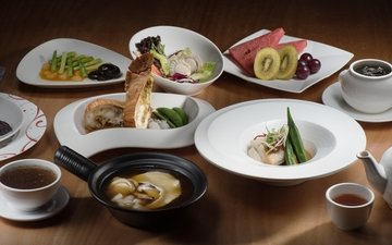арбуз, мясо, киви, чай, суп, ассорти, блюда