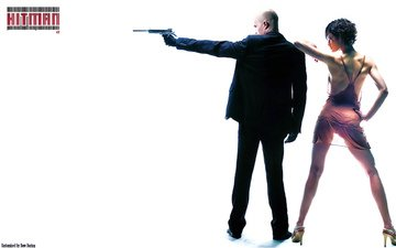 girl, weapons, tattoo, movie, transparent lingerie, hitman, olga, agent 47, assassin, 47th, timothy olyphant