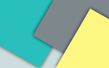 yellow, grey, blue, material, geometry